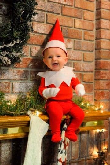 disfraces navideños para bebes a mano