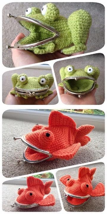 divertidas carteras tejidas a crochet 2017