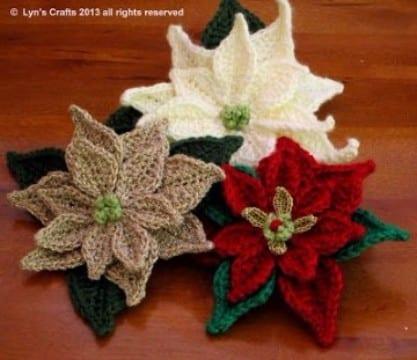 flores navideñas a crochet creativas