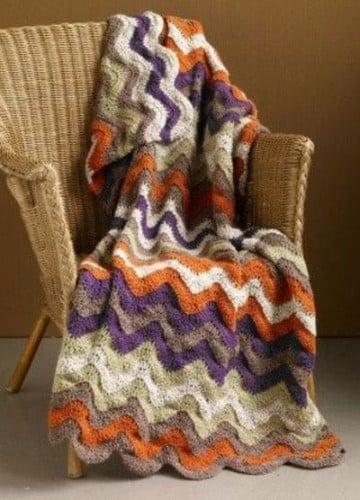 frazadas tejidas a crochet de colores