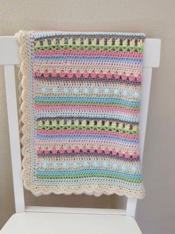 frazadas tejidas a crochet para bebes