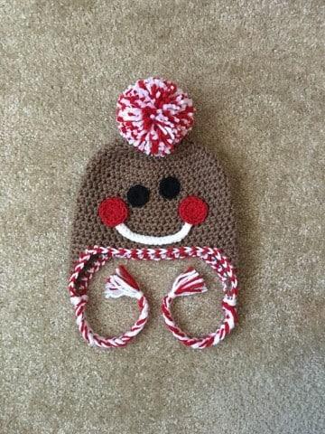 gorros de navidad para niños marrones