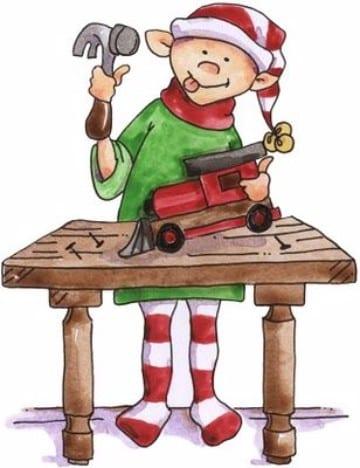imagenes de duendes navideños con juguetes