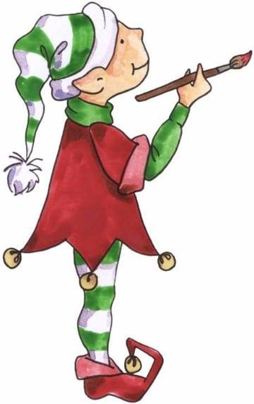 imagenes de duendes navideños pintores