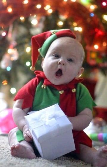 lindos disfraces navideños para bebes