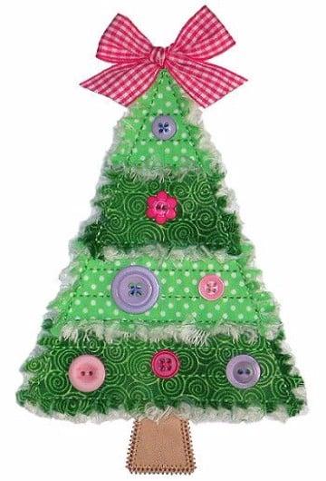 manualidades en tela para navidad a mano