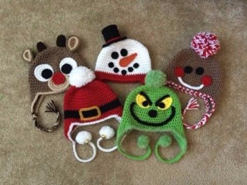 modelos de gorros de navidad para niños