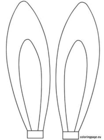 moldes de orejas de conejito largas