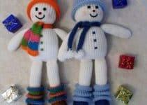 Navideños como un muñeco de nieve con estambre decorativo