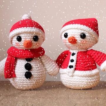 muñeco de nieve con estambre para decorar