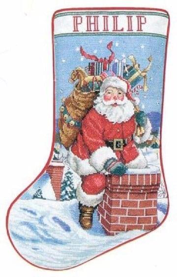 patrones de botas navideñas para descargar