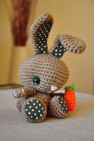 peluches tejidos a crochet de conejo
