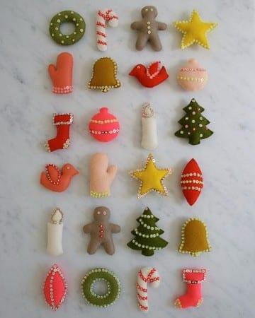 pequeñas manualidades en tela para navidad