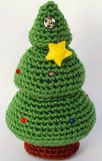 pinitos de navidad al crochet paso a paso