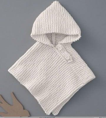 ponchos tejidos para niños paso a paso