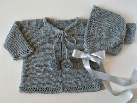 rebecas de crochet para niña con gorro