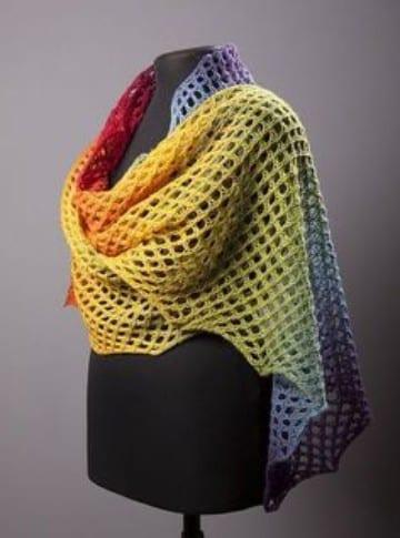 rebozos tejidos a gancho arcoiris