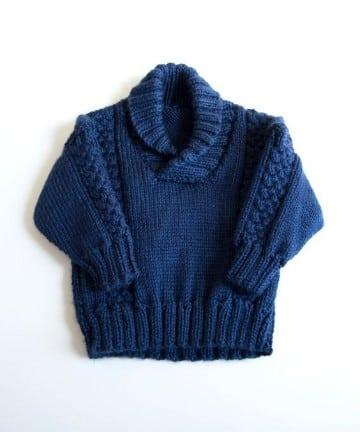 sacos de lana para niños sin botones