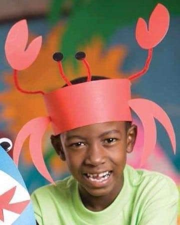 sombreros divertidos para niños de cangrejo
