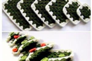 Los tapetes navideños a crochet que necesitas al decorar