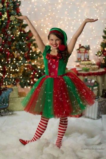 trajes de duendes navideños para niña