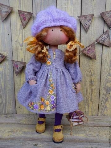 vestidos para muñecas de trapo modelos