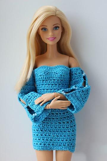 vestidos tejidos para barbie 2017