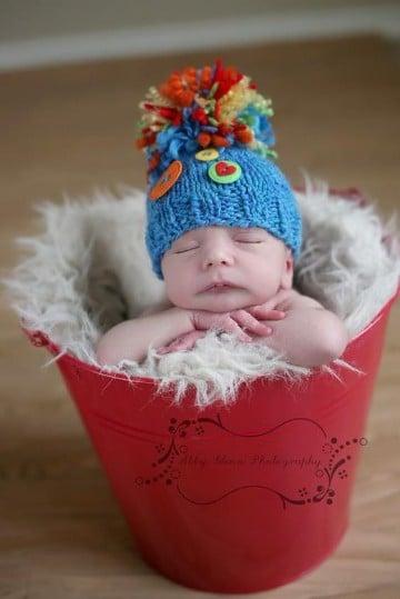 boinas tejidas para bebe peludo