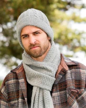 boinas tejidas para hombres con bufanda