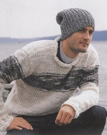 boinas tejidas para hombres gris