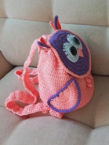 bolsos de crochet para niñas de buho