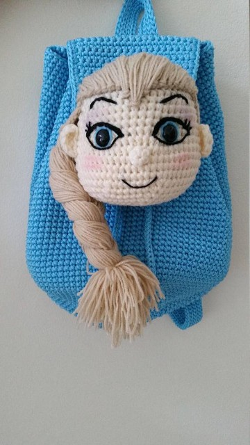 bolsos de crochet para niñas de frozen