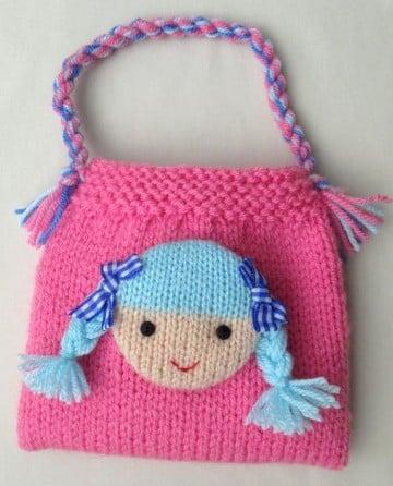 bolsos de ganchillo para niña pequeña