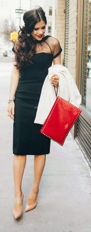 bolsos rojos de fiesta de sobre