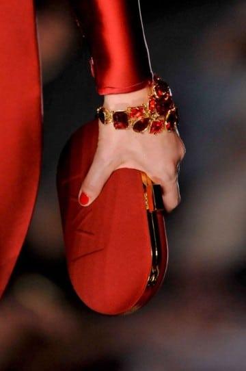 bolsos rojos de fiesta elegante