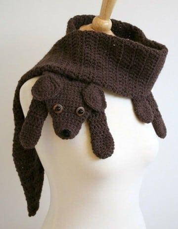 bufandas tejidas para niñas de animalitos