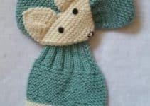 Hermosas bufandas tejidas para niñas con figuras infantiles