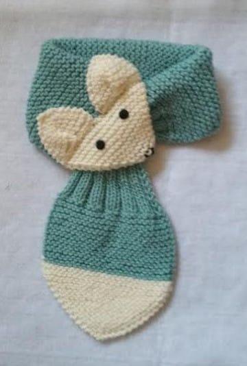 bufandas tejidas para niñas en azul