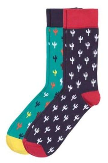 calcetines de colores para hombre cactus