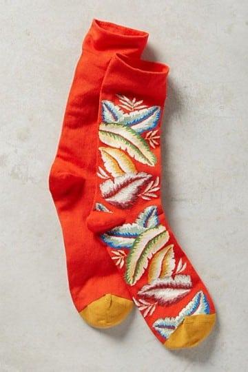 calcetines de colores para hombre plumas
