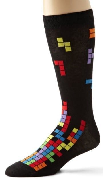 calcetines de colores para hombre tetris