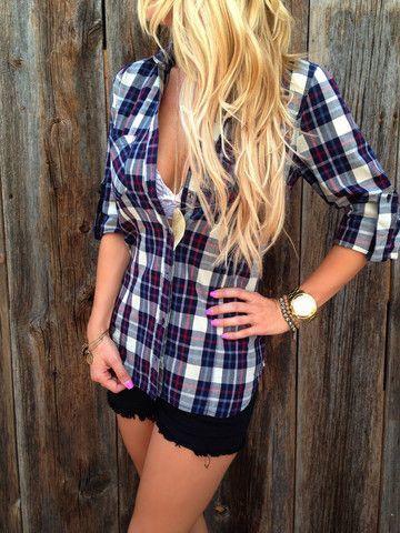 camisas de cuadros para mujer tipo blusa
