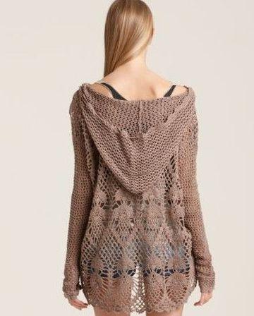 cardigan tejido a crochet