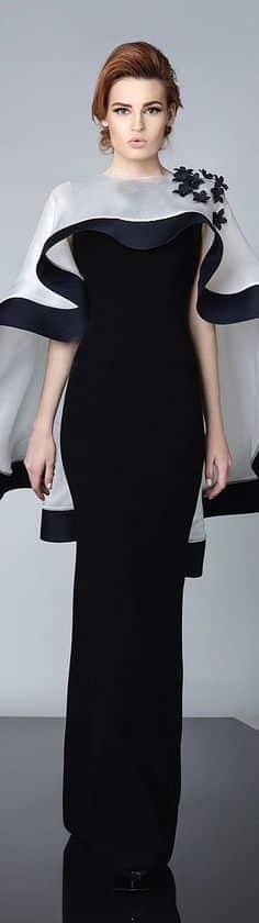 chalinas para vestidos de noche de dos colores