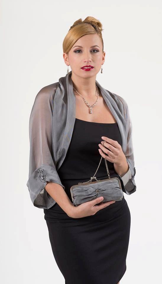 chalinas para vestidos de noche grises