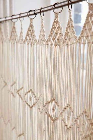 como hacer cortinas de macrame hecho a mano