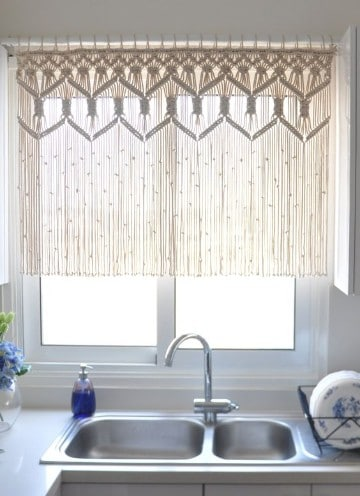 como hacer cortinas de macrame para ventanas