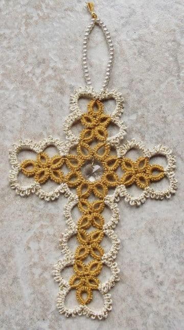como hacer rosarios tejidos medianos