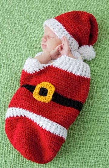 costalitos tejidos para bebe navidad