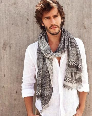 diseños de bufandas para hombre con estilo